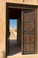 Fujairah Fort Door (AdeyH) Tags: door city travel sun stairs asian photography coast photo gulf pentax fort uae entrance arabic emirates doorway abudhabi arab souk ae gcc fujairah