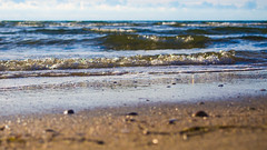 little waves (coellerich) Tags: beach water strand coast sand wasser waves northsea lowtide nordsee watt kste romo wellen ebbe brandung zd 1442mm
