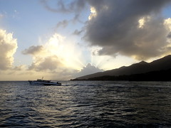 Antoinette... (phoebus58) Tags: sunset sea mer beach mar caribbean bateau coucherdesoleil guadeloupe antilles caraibe refletsdansleau