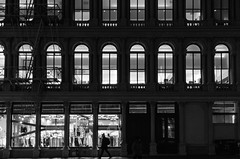 Windows (JoelZimmer) Tags: blackandwhite newyork unitedstates manhattan soho streetphotography citygrid 24mmf28 nikond7000