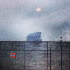 http://instagram.com/jared_lo_fi_eye/# (Jared Price) Tags: london rain architecture underground concrete industrial grain lofi modernism ufo shoreditch trendy pixels overground brutalism weatherreport lores iphone viewfromthewindow womblingfree instagram