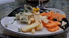 A Little Cheese With That Whine (BKHagar *Kim*) Tags: food cheese plate balsamic bluecheese cheeses agedgouda bkhagar bellavitano