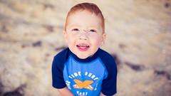 Smiling boy at the beach (Robert Lang Photography) Tags: boy beach smiling youth child australian australia son freckles aussie redhair southaustralia blueshirt australiana coffinbay eyrepeninsula aussieboy vegemitekid aussiekid australianboy aussiechild