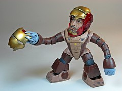 Hot Toys Knock Off  Ironman Mk VII Battle Damaged Version Tony Stark Helmet Head Set  Fancy Acguyman Mask, Governor? (My Toy Museum) Tags: hot toys mask head helmet off tony stark mk vii knock