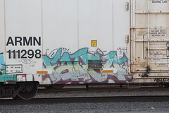 05042014 040 (CONSTRUCTIVE DESTRUCTION) Tags: train graffiti pieces streak tag trains boxcar graff piece boxcars fatso moniker