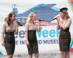 Musical Performance by The Manhattan Dolls, Fleet Week 2014 at the Intrepid Museum, New York City (jag9889) Tags: show nyc newyorkcity usa ny newyork museum river dolls ship unitedstates manhattan clinton military unitedstatesofamerica vessel celebration intrepid hudsonriver trio naval waterway warship hellskitchen fleetweek vocal 2014 femalesinger intrepidmuseum ussintrepid northriver navigable pier86 intrepidseaairandspacemuseum fleetweeknewyork vocaltrio themanhattandolls jag9889 5252014 2014fleetweek