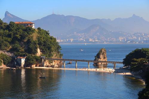Convent and Boa Viagem beach. Niteroi - Rio de Janeiro.