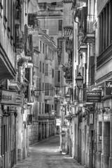 """Siesta"" in Palma de Mallorca (PLADIR) Tags: street city urban blackandwhite bw house architecture strasse panasonic stadt architektur siesta sw mallorca palma hdr huser strase fz1000"