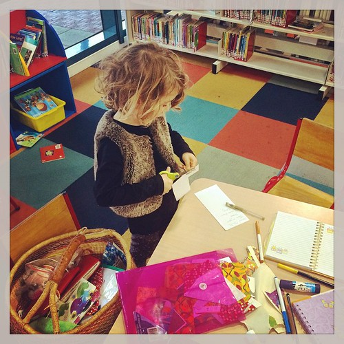 182/365 • we have spent time at three different libraries this week - this is DB at @frankstonlib yesterday with our 'making basket' - libraries are amazing places! We have just tuned into borrowing ebooks, magazines and audiobooks on our iPads - fantasti
