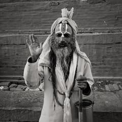 Namaste, Pashupatinath, Kathmandu, Nepal (version 2) (chinese johnny) Tags: himalayan ambient reallifenotposedasian nepal nepali streetphotography documentaryphotography documentary vscocam vsco instagram iphone iphoneonly iphone5c bw square squareformat blackandwhite kathmandu kathmanduvalley monochrome flickrunitedaward