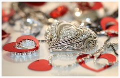 Hearts (jeannie debs) Tags: macromondaysheart heart macro love silver red joy warmth emotion valentine hmm