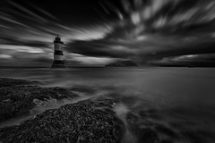 Daybreak (MarkWaidson) Tags: puffin rock penmon lighthouse anglesey shore clouds le nd