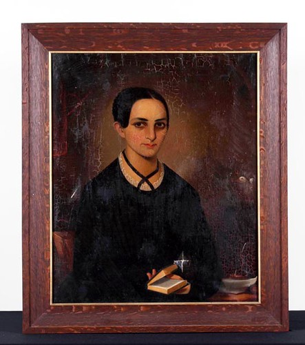 19TH C. American or English O/C Portrait ($2,016.00) - Sold on April 7, 2017 at Green Valley Auctions