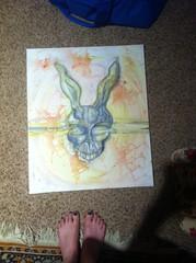 image_5 (Alien_Limb) Tags: frank bunny rabbit painting mixed media donniedarko donnie darko art movie spooky scary watercolor oil pastel acrylic