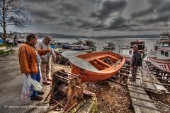 Consultation (`ARroWCoLT) Tags: hdr boat beykoz istanbul canon700d rescueboat filika tonemapped tekne seascape deniz manzara bosphorus people boats ultrawide