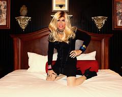Cortney - Blonde in Black at the Artisan in Las Vegas (Cortney10100) Tags: cortney tv tg tgirl tgurl transgender heels highheels femme tranny trannie transsexual transvestite crossdress crossdresser blonde stilettos domme leather thigh indoor boots