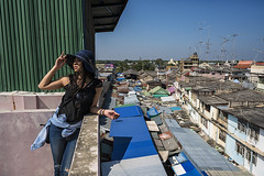 mae klong (Roberto.Trombetta) Tags: asia thailand loneliness lone landscape view sonyalpha sony7rii sony7rm2 batis225 carlzeiss zeiss carl sony alpha 7rii lenses people lifestyle fashion road rooftop panorama from above beautiful girl woman thai portrait stunning skyline mae klong maeklong market street railway hat long hair black sun train station