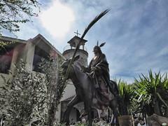 Saliendo de Campolongo (juantiagues) Tags: palmas burrita domingo ramos contraluz iglesia juantiagues juanmejuto campolongo