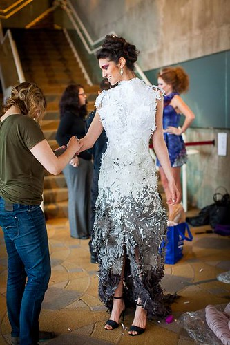 Backstage 10th Annual Paper Fashion Show