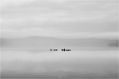 Hidden World (MirkaDR) Tags: second lake quiet calm black white hidden rocks still fog background landscape zen italy place minimal beauty simply nature nobody desolation