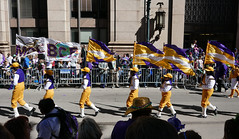 Colorful flags fluttering (Monceau) Tags: mardigras neworleans parade flags flying fluttering marchers