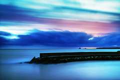 Colours at Sunset 05_03_17 (Alessandro Dozer Fondaco) Tags: colori colours foce verde latina long exposure esposizione lunga mare sea pontile pier