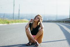 kris (valeriezabosina) Tags: valeriezabosina sunlight sun girl brunet bridge light summer hot vsco smile