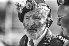Portrait of a piper (Frank Fullard) Tags: frankfullard fullard piper music musician bagpipes uilleanpipes achill dookinella keel dooega dooagh achillsound island band player mayo irish ireland parade heritage history stpatrick beard grey shamrock saltandpepper