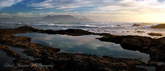 Table Mountain Rock Pool Panorama (Panorama Paul) Tags: paulbruinsphotography wwwpaulbruinscoza southafrica westerncape capetown tablemountain blaauwbergbeach multicamerapanorig rockpool waves beach rocks sunset nikond800 nikkorlenses nikfilters panorama