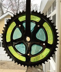Bike Art 4 (Mr.TinDC) Tags: art sculpture bikeart gears stainedglass resin chainring crank window