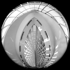 I Might Find Heaven (Thomas Hawk) Tags: america milwaukee milwaukeeartmuseum santiagocalatrava usa unitedstates unitedstatesofamerica wisconsin architecture bw fav10 fav25 fav50