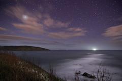 Wembury Stars (Richard D Porter) Tags: canon 550d tokina1116f28 devon uk england nightsky astrolandscape astro stars beach seascape longexposure tripod