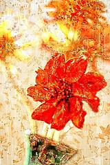 love poem (LotusMoon Photography) Tags: photopainting flowers texture pattern filterforge photoart photomanipulation painterly paintograph stilllife indoor arrangement light modern artistic artful artwork red annasheradon lotusmoonphotography love poem lovepoem creative