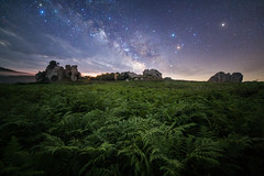 Above the megaliths (DottorSam) Tags: sky stars milky way argimusco landscape