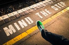 One Step Beyond (Malcolm Bull) Tags: raoul foot station mindthestep platform