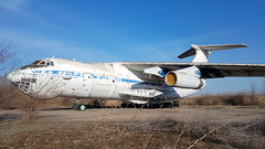 Ilyushin IL.76MD c/n 0033447372 registration 76563 stored and abandoned at an old Soviet airbase at Krivyi Rih, Ukraine (Erwin's photo's) Tags: ilyushin il76md cn 0033447372 registration 76563 stored abandoned an old soviet airbase krivyi rih ukraine krivoj rog kriviy rig