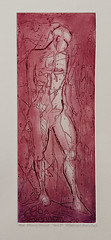AKT 1  Figure  Red version (Svein Erik Larsen) Tags: art graphicart etching akt kunst aquatint croquis grabado grafikk etsning sveineriklarsen akvatint