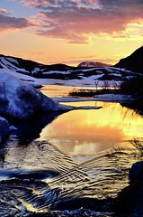 sunset and water (John A.Hemmingsen) Tags: sunset sky reflection water nordnorge troms nikond7000