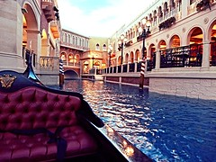 Venetian Gondola (Belinda Fewings) Tags: venice usa holiday reflections river boat canal ride lasvegas nevada romance reflect gondola venetian 2012 indoorcanal thevenetianresort uploaded:by=flickrmobile flickriosapp:filter=nofilter