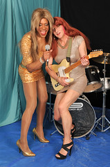 Glam Vocalist & Guitarist! (kaceycd) Tags: pumps highheels tgirl stilettoheels sequins pantyhose crossdress spandex lycra tg stilettos minidress sexypumps stilettopumps