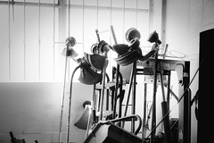 (Matthew-King) Tags: light white black window monochrome heads stacked strimmers