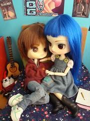 KURO V. 37 Aficiones (Lunalila1) Tags: boy male outfit doll track 21 handmade dal v phoebe angry link 37 kuro chibis noa urasawa tachibana shinobu obitsu