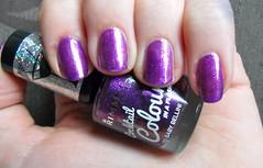 Rimmel - Baby Bellini (jana7800) Tags: new baby hot glitter dark gold swatch hands purple nail fingers nails nailpolish shimmer nailart bellini rimmel