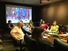 The employees at WDRB are all ears for Barbara's presentation. WDRB had a huge increase in 2012 - thanks to Bill Lamb and Judy  Reed. (Fund for the Arts Pics) Tags: reed bill lamb judy wdrb fundforthearts barbarasextonsmith fundfortheartscampaign
