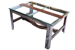 "Glass and Wood Top Coffee Table with Log Spindle • <a style=""font-size:0.8em;"" href=""http://www.flickr.com/photos/80301931@N08/9147520735/"" target=""_blank"">View on Flickr</a>"