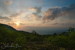 Clearing Sunset (johnathanwbass) Tags: blue sunset summer sun mist mountains green fog gardens set clouds nc nikon asheville bass north foggy hills ridge johnathan craggy parkway carolina greenery layers ridges d80