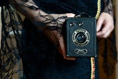 Photography on the dark side.  Photos from the Crypt (Trojan_Llama) Tags: vintage photography twilight photos vampire horror undead crypt coronet darkside boxcamera vampiress morticia theadamsfamily meniscuslens portraitno2