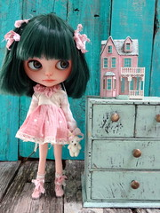 Bell and mini dollhouse