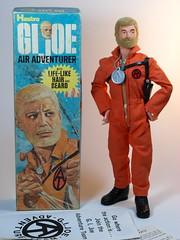 Hasbro G I Joe  Adventure Team  Air Adventurer  Hard Hand  Box Art & Figure (My Toy Museum) Tags: team hand g air hard joe adventure hh adventurer i at