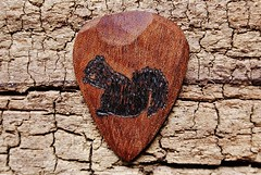 Squirrel - Sapele Wooden Guitar Pick (spenceriko) Tags: wood musician music tree love beauty electric shop design wooden carved lyrics artist hand guitar handmade song patterns player musical exotic sound singer acoustic customized grains etsy pick custom tone songs picks strumming personalized chords figured plectrum strum skill personalize etsycom